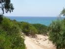 Weg vom Hotel zum Strand